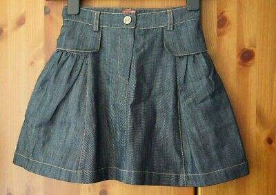 NO ADDED SUGAR Girls Age 7-8 Years Blue Denim Lined Skirt