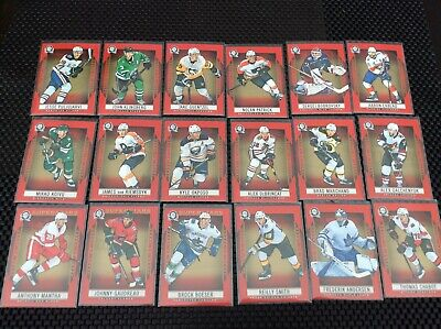 2018 2019 o pee chee OPC Coast to Coast Red Parallel 18 card lot + Superstars