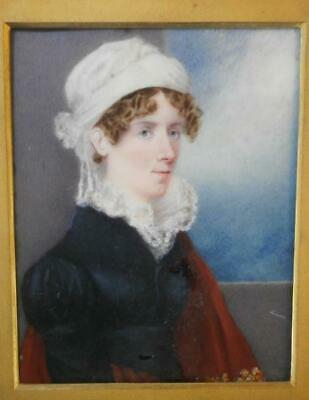 FINE 1820's PORTRAIT MINIATURE of a YOUNG LADY Mary Elizabeth James at 24 years