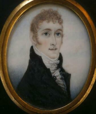 GOOD GEORGIAN PORTRAIT MINIATURE of a YOUNG Mr TOLLEY signed by R SALKELD 1807