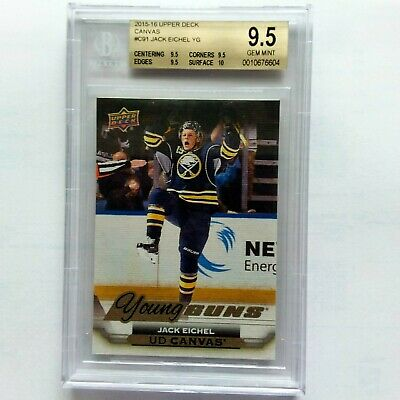 2015-16 Upper Deck Jack Eichel Young Guns Canvas Rc #C91 Bgs 9.5 Gem Mint