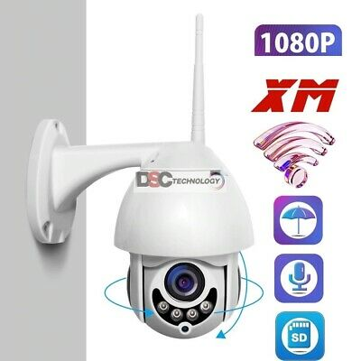HD 1080P Wifi PTZ IP Camera Outdoor Onvif 2MP Wireless Security Speed Dome-US SH