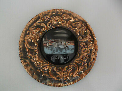 Firenze Italy Copper Plate With Hanger