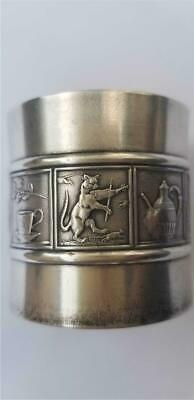 Antique Gorham Sterling Silver Napkin Ring Nursery Rhymes 1920s Cat Fiddle