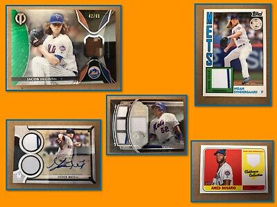 New York Mets 20 Card Lot - Guaranteed Auto Or Relic - DeGrom, Rosario & More
