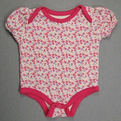 Isabella & Max 0-3 Month Baby Girl Pink Floral Bodysuit