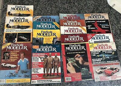 15 Fine Scale Modeler Magazines,Charter Issue– 1982, Plus 2 Fall 1982 & 83-89 .