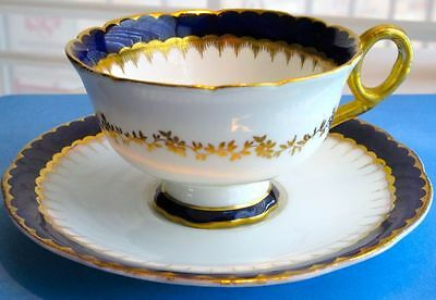 Coalport Antique Fancy Stunning Cup & Saucer England 1891-1920