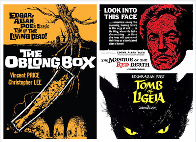 16mm Horror Films (3) MASQUE OF THE RED DEATH - TOMB OF LIGEIA - THE OBLONG BOX