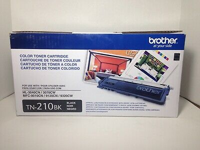 Genuine OEM Brother TN-210BK Black Toner Cartridge Factory Sealed