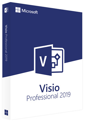 Microsoft Visio 2019 Professional /Pro 32 64 Bit Product Key License Code Visual