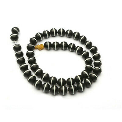 8mm Frosted Agate Dzi Bead Loose Beads Making Jewelry 15 inches Stone Charm