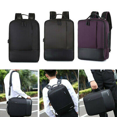 Men Premium Anti-theft Laptop School Travel Waterproof Backpack with USB Port