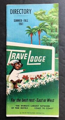 1961 Travelodge, Travel Lodge Motel Directory of US, Illustrated Motels, Rates