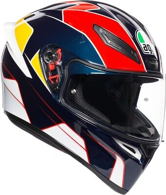 Integral Helm agv K1 K-1 Multi Pitline Blue - Red - Yellow Größe L