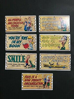 Scanlens Wacky Plak Trading Card Lot Of 7