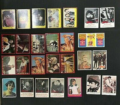 Scanlens Trading Card Mixed Lot Of 27 Inc: Samurai, Popswops, Kung Fu, Monkees