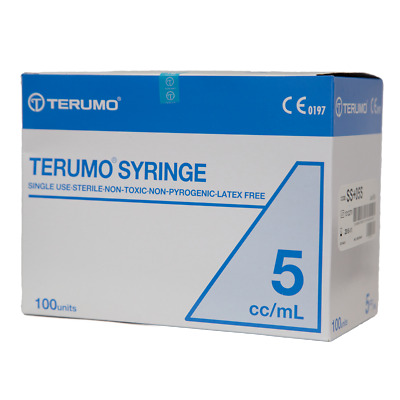 Terumo Syringe Luer Lock - Hypodermic Needle - Box/100 - 5 cc/mL