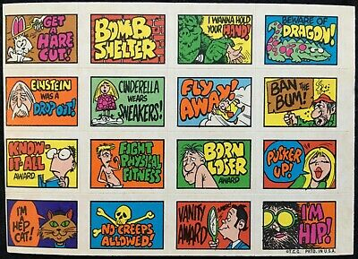 1970 Stacks of Stickers **SUPER SCARCE** GET A HARE CUT! Topps - Very Good