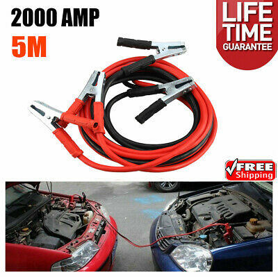 2000AMP Jump Leads Heavy Duty Battery Start 5M Booster Cables Car Van Truck Bag