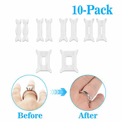 10PCS Soft Ring Size Reducer Resizer Adjuster Ring Size Clip Guard Invisible
