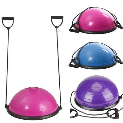 """23"""" Half Balance Ball Trainer Yoga Strength Resistance Exercise w/Pump Workout"""
