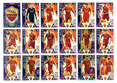 2018 2019 Topps Match Attax Champions League AS ROMA set of 18 cards