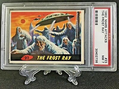 1962 Mars Attacks THE FROST RAY #23 NEAR MINT 7 - Topps garno PSA