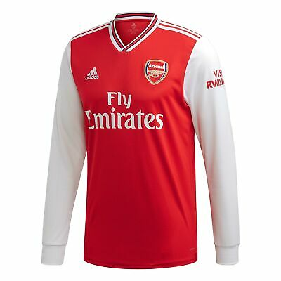 adidas Official Mens Arsenal FC Home Football Shirt Jersey 2019-20 Long Sleeve