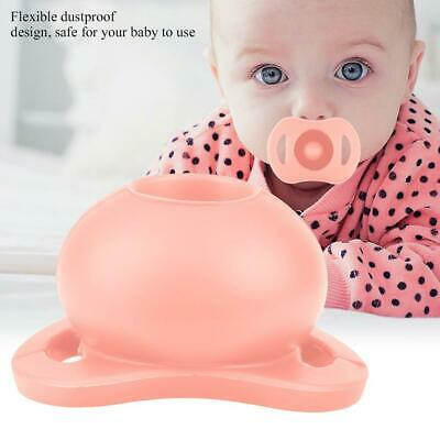 Flexible Dustproof Silicone Pacifier Nipple for Newborn Infant Baby (Pink)