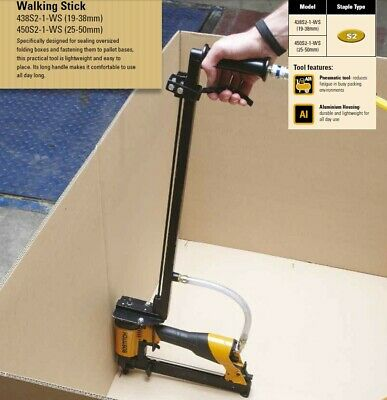 "Bostitch 450S2-WS Walking Stick ""Carton to Pallet"" Industrial Stapler (25-50mm)"