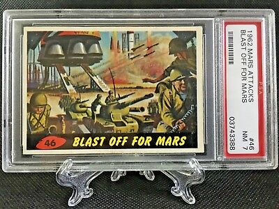 1962 Mars Attacks BLAST OFF FOR MARS #46 NEAR MINT 7 - Topps garno PSA