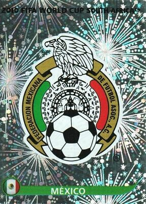 Panini WM 2010 50 Mexiko Mexico World Cup WC 10 Wappen Logo Glitzer Badge