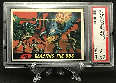 1962 Mars Attacks BLASTING THE BUG #43 VERY GOOD-EXCELLENT 4 - Topps garno PSA