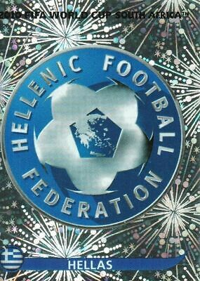 Panini WM 2010 164 Griechenland Greece World Cup WC 10 Wappen Logo Glitzer Badge