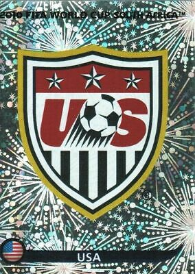Panini WM 2010 202 USA World Cup WC 10 Wappen Logo Glitzer Badge