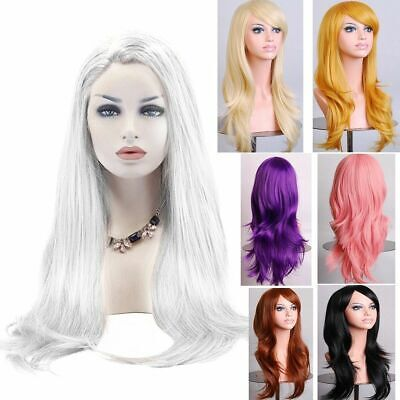 Women Long Hair Full Wig Natural Curly Wavy Party Cosplay Synthetic Hair Wigs AU