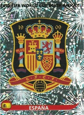 Panini WM 2010 563 Spanien Spain World Cup 10 Wappen Logo Glitzer Badge