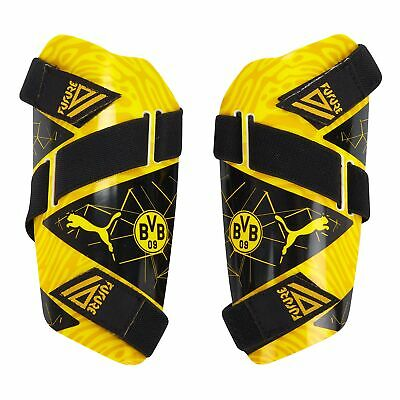 Puma Official Mens BVB Borussia Dortmund Future 5 Football Shin Pads Yellow