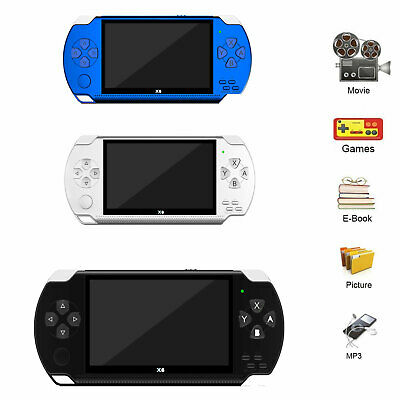 8GB Handheld PSP Game Player Built-in Games 4.3'' Portable Consoles AU SGB