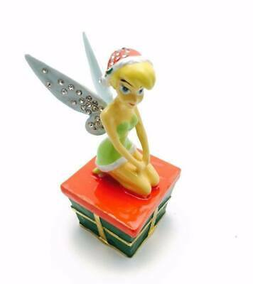 NEW BOXED DI264 DISNEY CHROME PLATED TINKERBELL WISH ORNAMENT