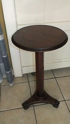 Victorian round mahogany side table
