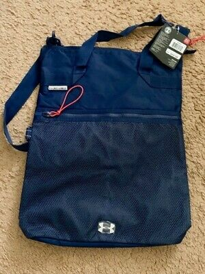 """Under Armour shoulder bag/tote/navy/new with tags/large size 19"""" X 13.5"""" X 3.5"""""""