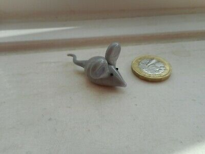 Mouse - Glass - Collectable  Miniature Glass - Grey Coloured Glass Rat/Mouse