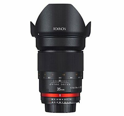 Rokinon 35mm F1.4 AS UMC Wide Angle Fixed Lens for Olympus & Panasonic Micro 4/3
