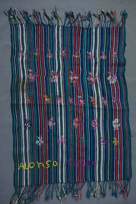 Hand-woven Antique Vintage Guatemalan Textile: Servilleta from Nahuala