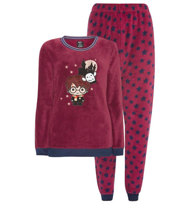 Ladies HARRY POTTER Fleece Pyjamas Women's Girls Warm Winter PJs Primark 6-20