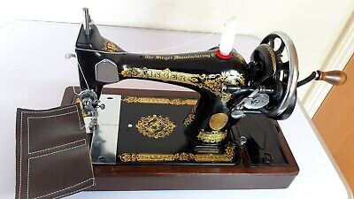 Semi-Industrial Singer 28K Handcrank Sewing Machine, FULLY SERVICED,sews LEATHER