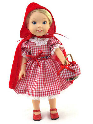 """Little Red Riding Hood Costume For 14.5"""" Wellie Wishers Doll Clothes AG"""