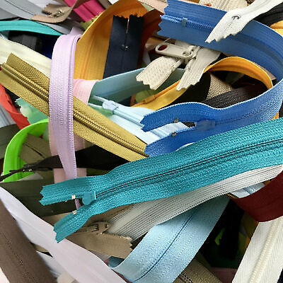 YKK Sale - Over 300 Assorted Zippers - Nylon/Coil - Over 125 Dollar Value!